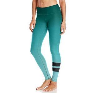 ALO YOGA gradient green ombre airbrush leggings